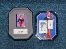 Zippo 1996 Pin Up Girls Lighter In Tin