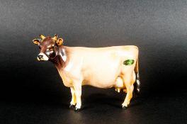 Beswick Animal Figure ' Jersey Cow CH ' Newton Tinkle. Model Num.1345. Designer A. Gredington.