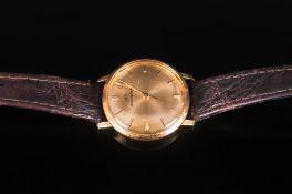 Bucherer - Swiss 18ct Gold Cased Midi-Sized Ladies Wrist Watch with Original Leather Strap. Gold