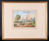 Monogram ME 19th Century Watercolour, signed with monogram Me or JWC depicting a young girl