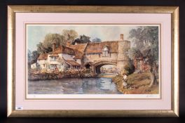E.R Sturgeon 1920-1999 Artist Signed In Pencil Limited & Numbered Edition Colour Print, 'Cottage
