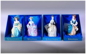 Four Royal Doulton Figures, The Gainsborough Ladies in original boxes, perfect condition. Comprising