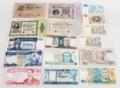 Collection Of Swedish & German Banknotes