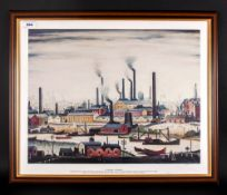 L.S.Lowry R.A Limited & Numbered Edition Colour Print Number 315/850 Titled 'A River Bank' Published
