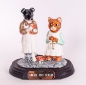 Beswick Ware Ltd and Numbered Edition Tableau / Group Figure ' Ginger and Pickles ' Raised on a
