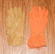 2 Pairs Of Ladies Evening Gloves