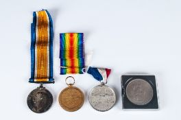 Two WWI Medals, 1914-1918 And The Great War For Civilisation 1914-1919 Both Awarded To J.79364 J.