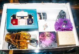 Mixed Box Of Perfumes & Cosmetics Comprising Nail Varnishes, Spectacular By Joan Collins, Avon Etc.