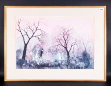Helen Bradley Colour Print Titled 'It Was An April Evening' 22x15.5''