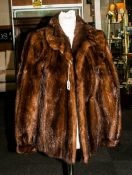 Ladies Dark Brown Mink Coat, fully lined, slit pockets. collar with revers.