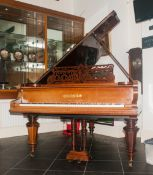 C.Bechstein Berlin Walnut Parlour Grand Piano serial number 14695, Made In 1883, originally came