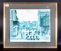 Tom Dodson Pencil Signed Colour Print Titled 'Anniversary Walk / Procession' signed lower right.