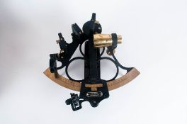 Hezzanith Heath Navigational Ltd. Endless Tanget Screw Sextant In Oak Case Early 20th Century, 5.5''