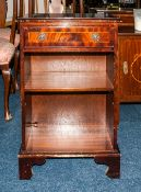 Early 20thC Small Mahogany Bookcase, Single Drawer Above A  Shelf, Raised On Bracket Feet, Height 29
