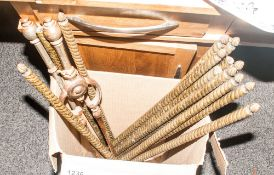 Collection Of Carpet Rods In Brass