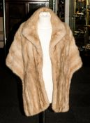 Ladies Blonde Mink Fur Stole fully lined