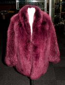 Ladies Purple Faux Fur Jacket.