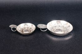Two Silver Plated Wine Tasters, Largest 3 Inch Diameter