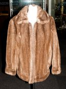 Faux Fur Coat With Zip