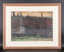 John Mackie 1953 - Early Throughfayre In Glasgow Scotland. Pastel, Signed and Dated 1982. Mounted