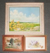 Three Assorted Signed Oil Paintings, various sizes and subjects.