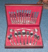 Lambert & Green 50 Piece Canteen Of Cutlery In Wooden Box