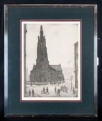 L.S.Lowry 1887-1976 Pencil Signed By The Artist Limited Edition Colour Print/Lithograph. 'St