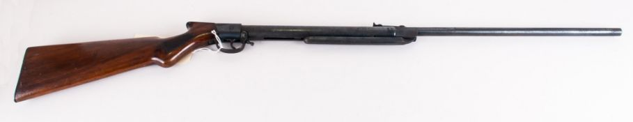 Vintage Single Shot 22.Cal Break Barrel Air Rifle. Maker Midland Gun Co, Birmingham. Features Carved