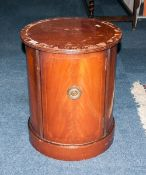 Mahogany Pot Cupboard With Single Shelf AF, 22 Inches High, 18 Inch Diameter