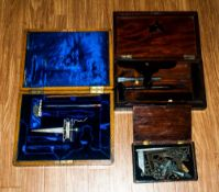 Masonic Early 20th Century Lidded Boxes, 3 in total, Contains various working tools of the 3