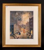 G.W Birks Pencil Signed Limited & Numbered Edition Colour Print, Titled 'The Red Tram' 314/375.