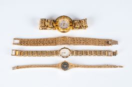 4 Fashion Watches To Include 2 Sekonda, Accurist And One Other, All With Gilt Metal Bracelets