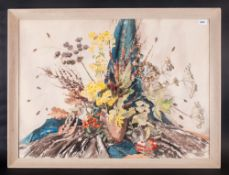 Phylis Irene Hibbert Watercolour, Still Life Of Seeds & Flowers Label Verso, 'Seed Time' Signed.
