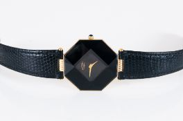 Rotary - Electro and Ultra Slim Gold Plated Quartz and Stylish Gents Octagonal Shaped Wrist Watch.