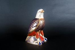 Royal Crown Derby Paperweight 'Bald Eagle' Date 2001 Gold stopper, 1st Quality. Mint Condition.