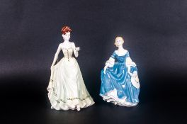 Coalport Hand Decorated Figurine 'With Love'. 8.5 inches high. Plus a Royal Doulton Figure 'Hilary'.