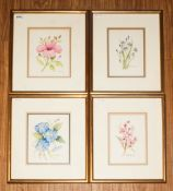 Four Framed Still Life Watercolours, All signed, mounted and framed behind Glass. Titled 'Bermuda