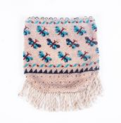 Seed Beaded 'Dolly Bag' Butterlfy design with looped fringe