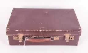 Small Dr Brown Leather Suitcase.