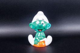 Talking Smurf Toy, Lic. Wallace Berrie & Co, Peyo 1983 Hong Kong
