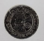 Elizabeth I 1558 - 1603 Hammered Silver Threepence. Date 1578. S.2573.M.M. Greek Cross.