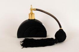 Black Art Deco Style Atomiser, Unmarked