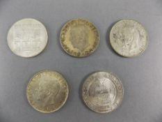 Swedish King Gustaf - Silver 5 Kroner Crowns, Dates 1952 ( 3 ) In Total + 2 Silver Austrian Winter