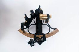 Hezzanith Heath Navigational Ltd. Endless Tanget Screw Sextant In Oak Case Early 20th Century, 5.5''