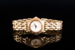 Marco Valentino Gold Plated - Quartz Ladies Wrist Watch with Integral Panther Bracelet.