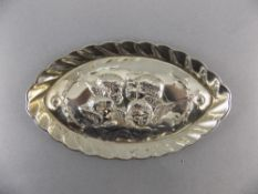 Victorian Oval Shaped Silver Pin Dish, D