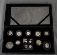 Ltd Edition Royal Mint Queens 80th Birthday Collection. Boxed Silver Coin Set, A Celebration In