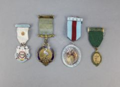 Masonic Enamel Medals ( 4 ) In Total.