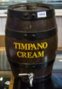 Realistically Modelled Keg With Strapwork And Tap Marked Timpano Cream