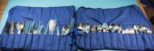8 Piece Silver Plated Cutlery Set comprising 4 serving spoons, pair of salad servers, pastry and